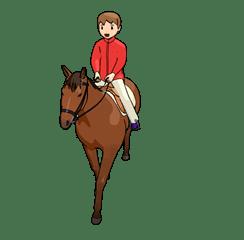 乗馬女子2