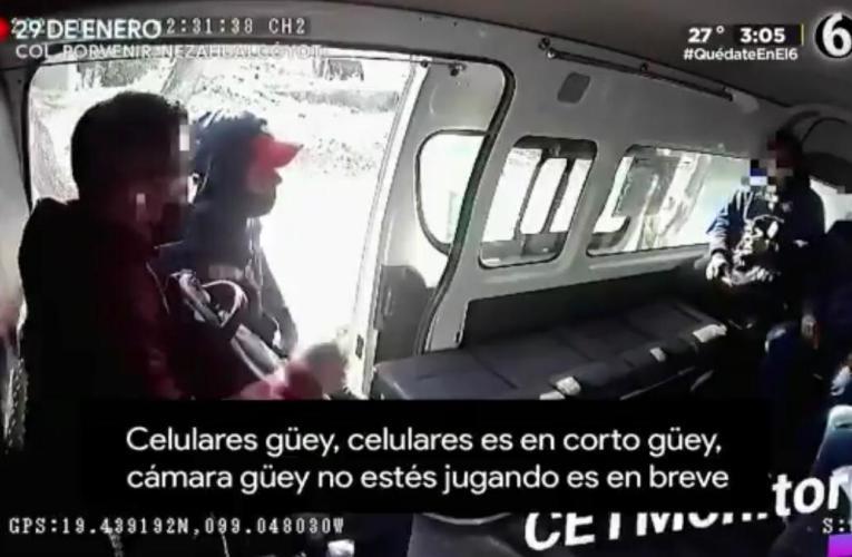 """""""CÁMARA GÜEY"""": CAPTAN EN VIDEO EL ASALTO A UNA COMBI"""