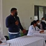 Reunión del Presidente Municipal de Tecozautla Lic. Joel Elías Paso y del personal de la Jurisdicción Sanitaria 4, Huichapan con Delegadas y Delegados