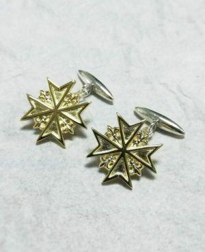 Gemelos Cruz de Malta Oro
