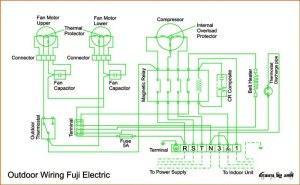 Wiring Diagram AC Cassette Fuji Electric   REFRIGERATION