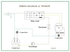 Wiring Diagram AC Window | REFRIGERATION & AIR CONDITIONING
