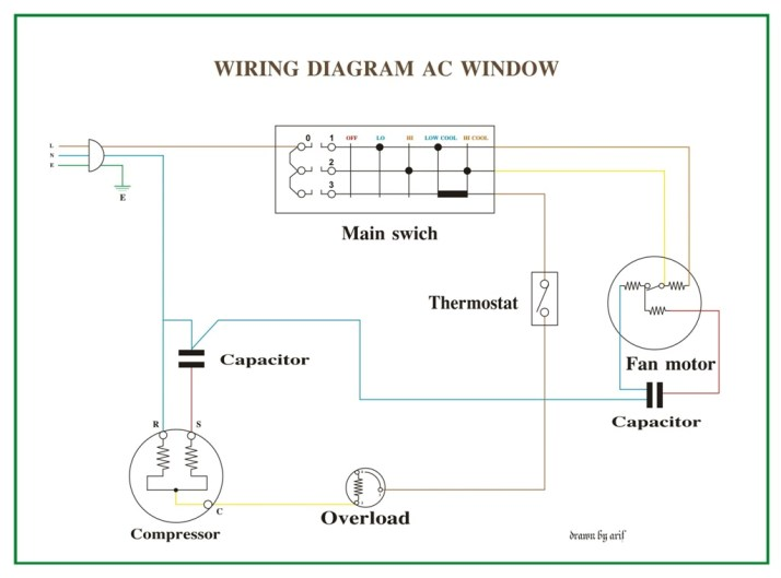 Wiring Diagram AC Window | REFRIGERATION & AIR CONDITIONING