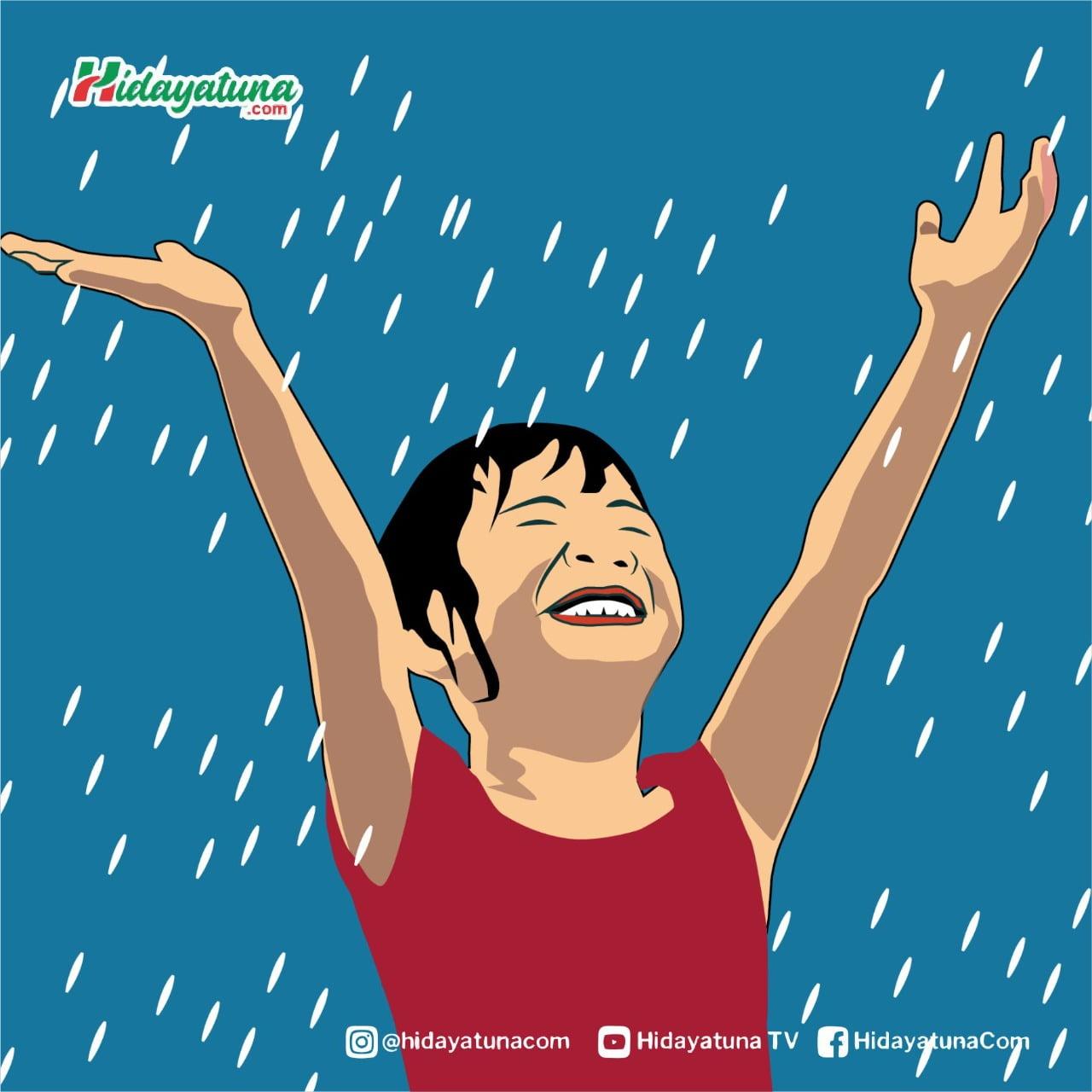 Hujan membawa berkah (Ilustrasi/Hidayatuna)