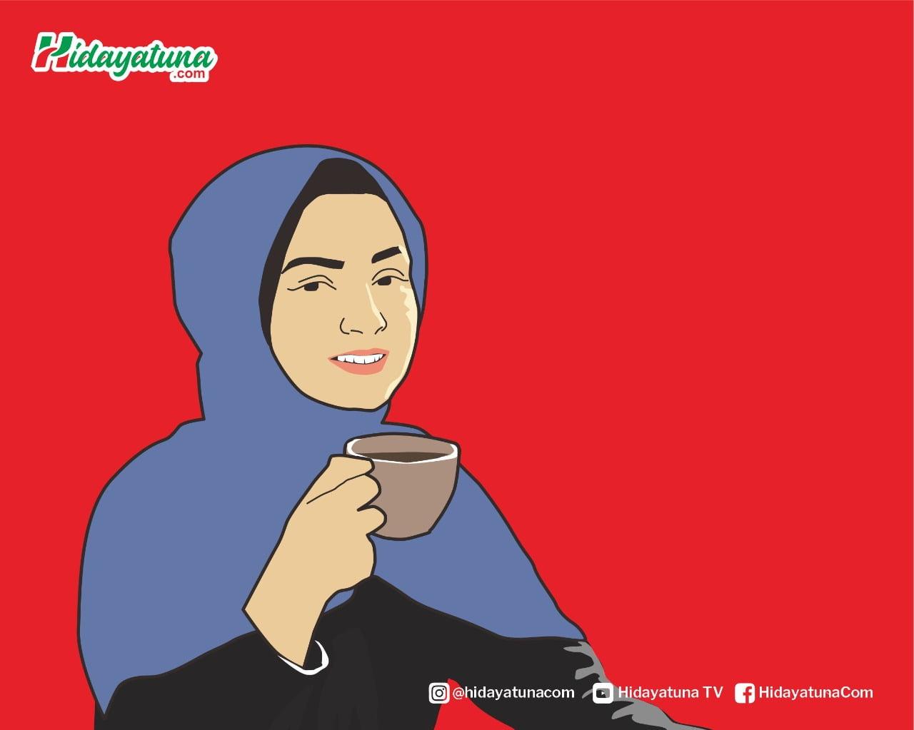 Niat Minum Kopi (Ilustrasi/Hidayatuna)