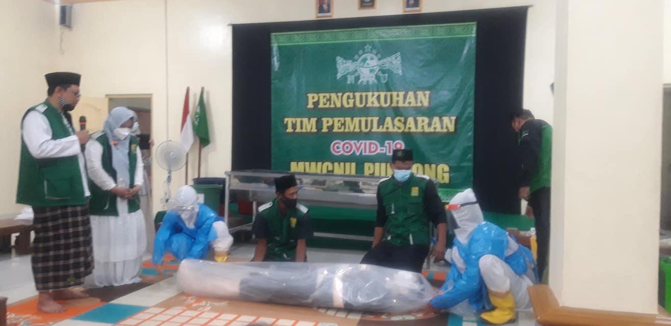 Pelatihan Rukti Jenazah NU Pundong (Dok. Markaban Anwar)