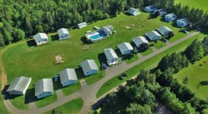 Aerial View of Hidden Acres Cottages