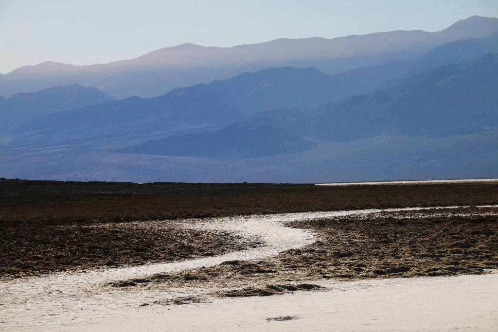 Badwater Salt Flats Basin hidden califorrnia