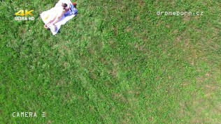 Drone Taking Off And Spying A Girl Tanning Naked