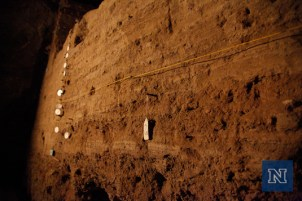 Strata lines inside Hidden Cave.