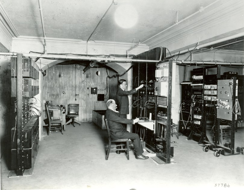 Bell Labs engineers in basement of Academy of Music