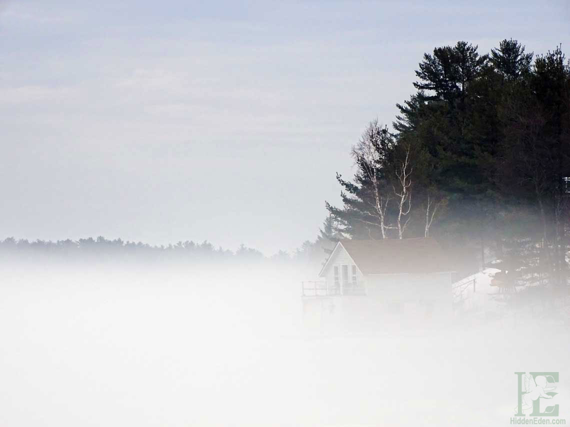 Boathouse in Muskoka Mist