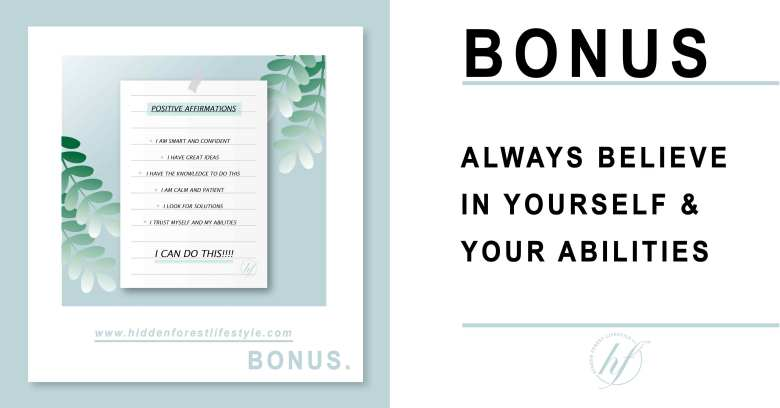 BONUS TIP ALWAYS BELIEVE IN YOURSELF