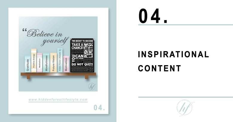 TIP 04. INSPIRATIONAL CONTENT