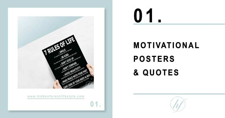 TIP 01. MOTIVATIONAL POSTERS & QUOTES