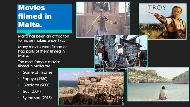 Movies filmed in Malta