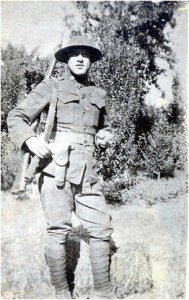 Cpl. Alex Pisciotta in full uniform, France, circa 1917