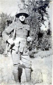 Cpl. Alex Pisciotta in full uniform, France, circa 1917