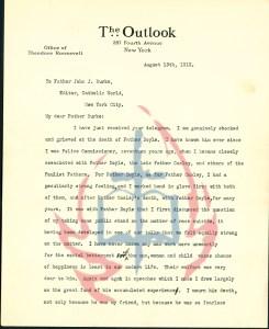 Telegram from President Roosevelt to John J. Burke