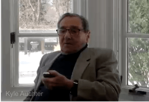 Werner Reich participates in an interview