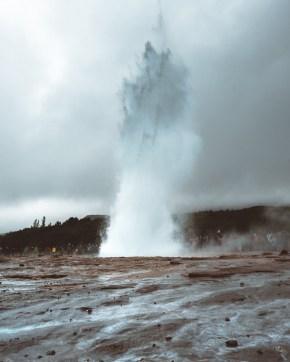 Erupting Strokkur at Geysir by Daniel Guindo Amezcua
