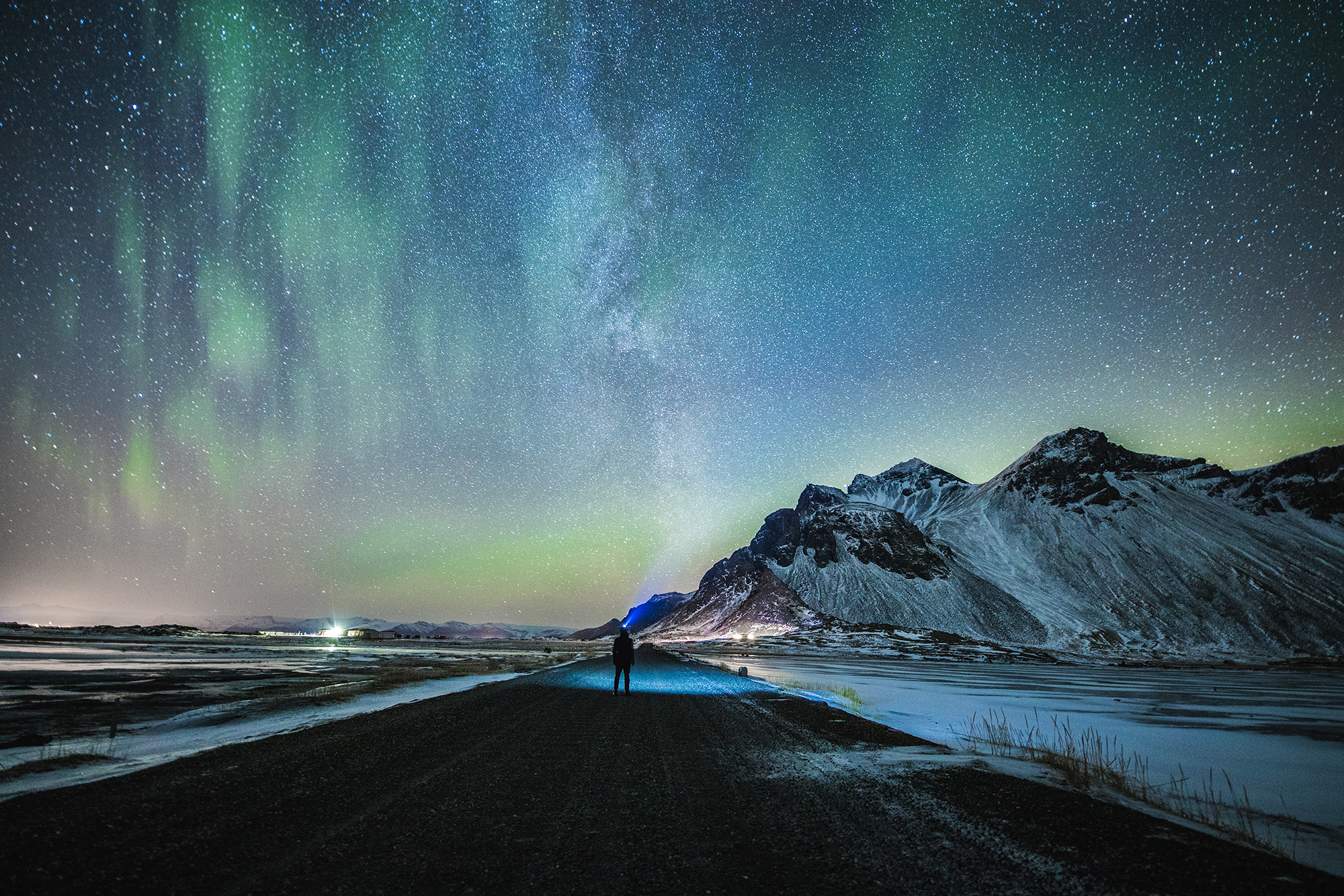 Iceland Northern Lights and Starry Sky | Hidden Iceland | Photo by Brendan Bannister