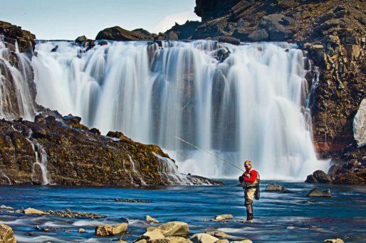 Fishing Highlands Waterfall | Hidden Iceland