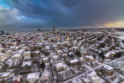 Reykjavík in Wintertime   Helicopter Tours   Hidden Iceland