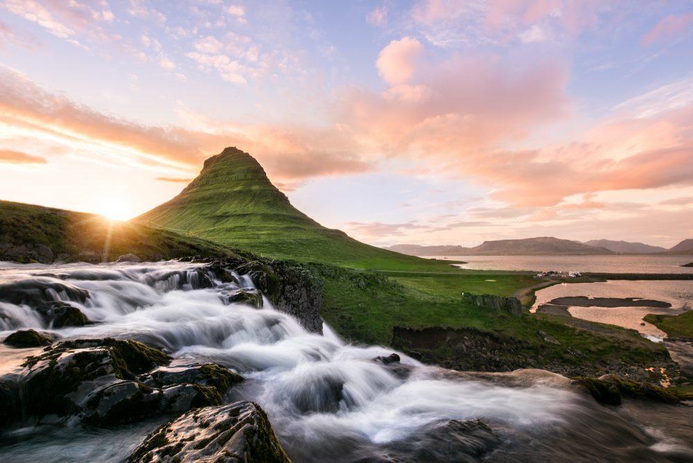 Mount Kirkjufell The Midnight Sun   Hidden Iceland   Photo by Tom Archer