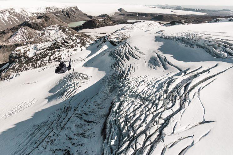 Glacier Crevasses   Helicopter Tours   Hidden Iceland