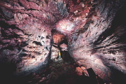 LAVA Tunnel lights | Between Continents Reykjanes & Lava Tunnel tour | Hidden Iceland | Photo by Norris Niman | Feature