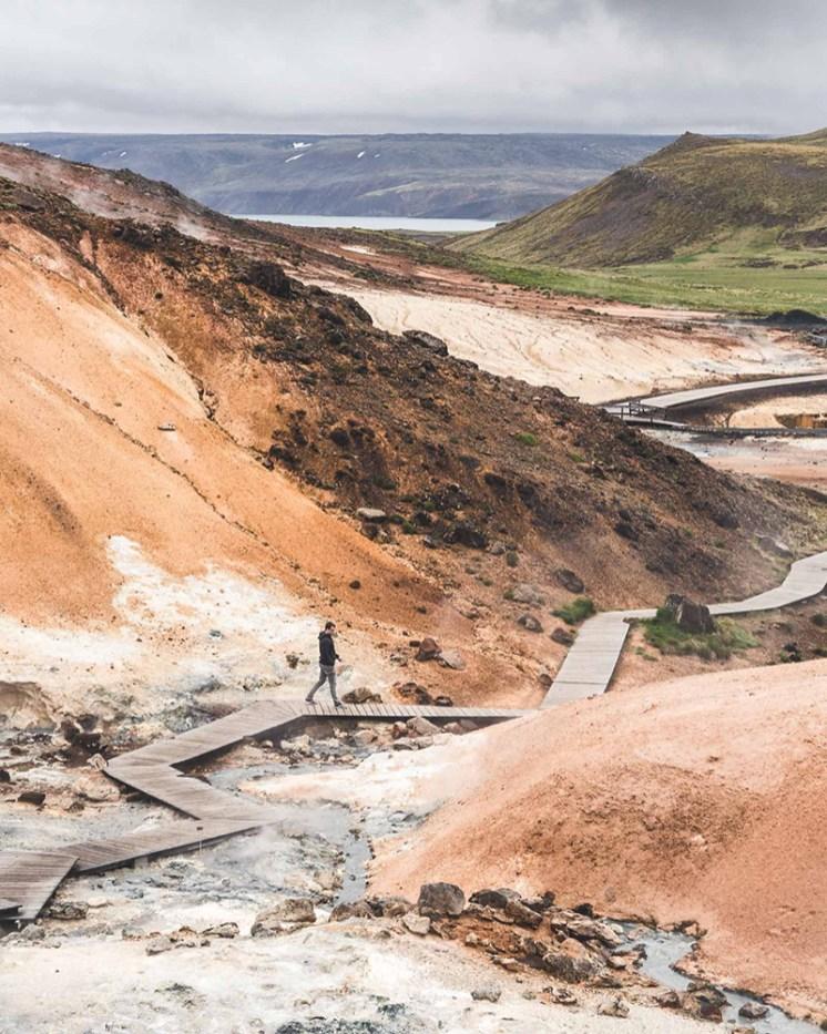 Seltún, Krýsuvík. Between Continents Reykjanes & Lava Tunnel tour. Hidden Iceland. Photo by Norris Niman
