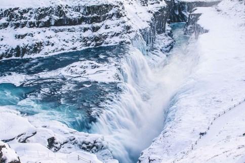 Gullfoss in winter | Golden Circle: Platinum Tour | Hidden Iceland | Photo by Norris Niman | Feature