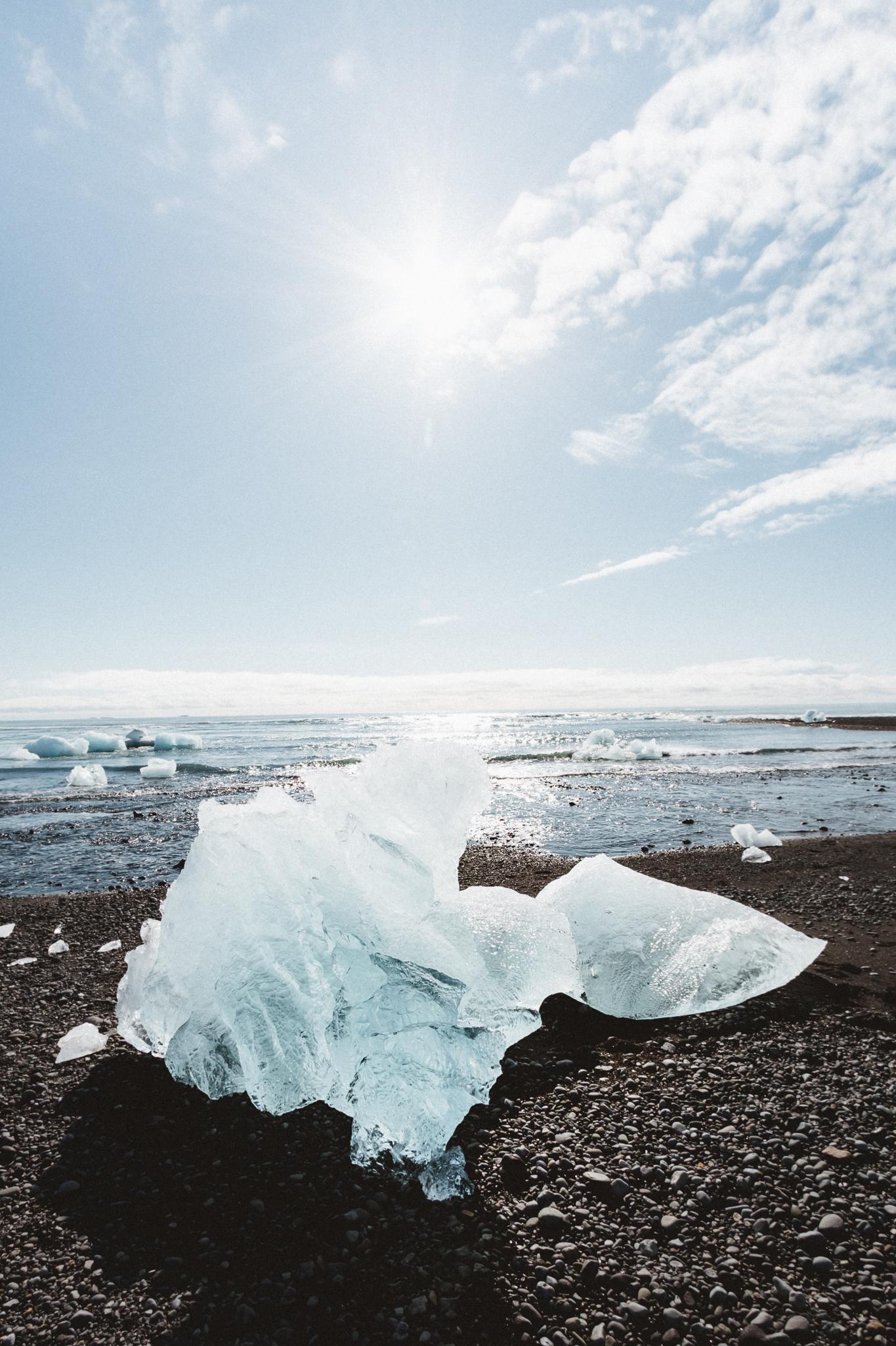 Diamond Beach   Jökulsárlón Glacier Lagoon 2 Day Tour   Hidden Iceland   Photo by Emily Sillett