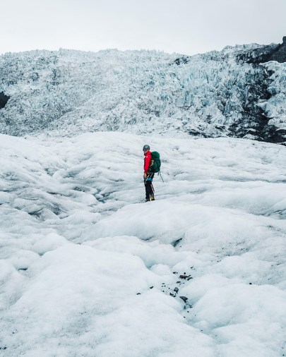 Falljökull Glacier Hike | Jökulsárlón Glacier Lagoon 2 Day Tour | Hidden Iceland | Photo by Paul Fencaros