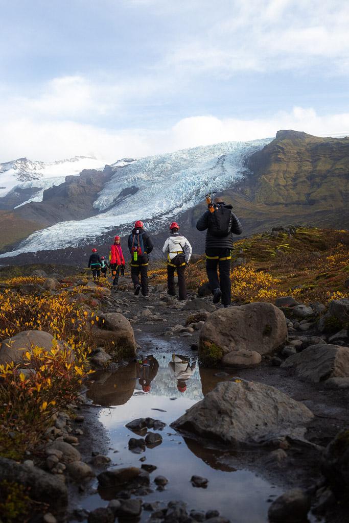Hike to Falljökull Glacier | Jökulsárlón Glacier Lagoon 2 Day Tour | Hidden Iceland | Photo Dennis Stever
