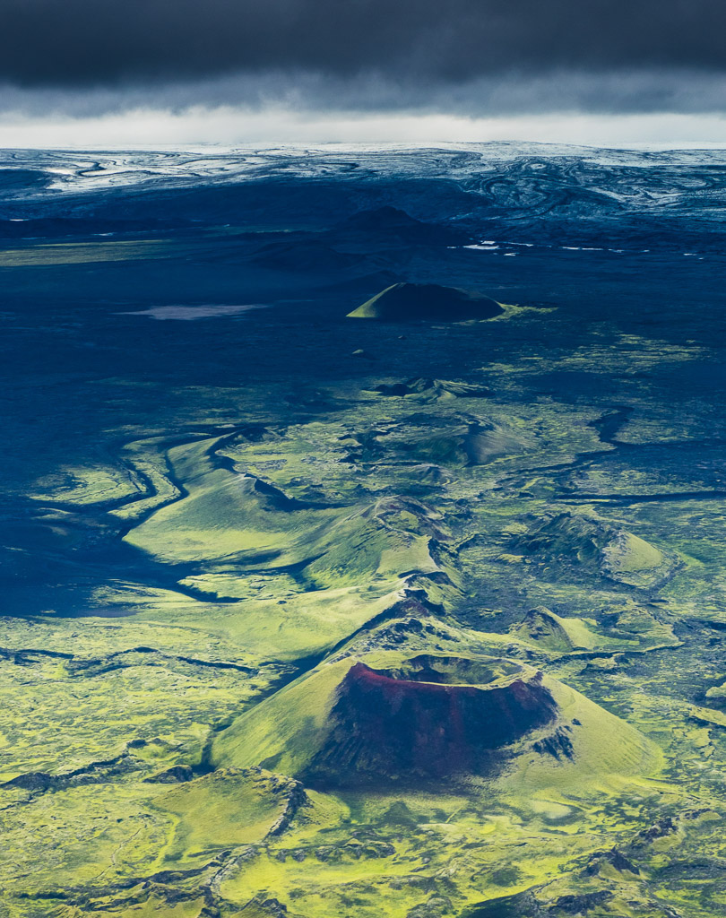 Laki Craters Aerial Highlands of Iceland | Hidden Iceland | Photo Mark Hoey