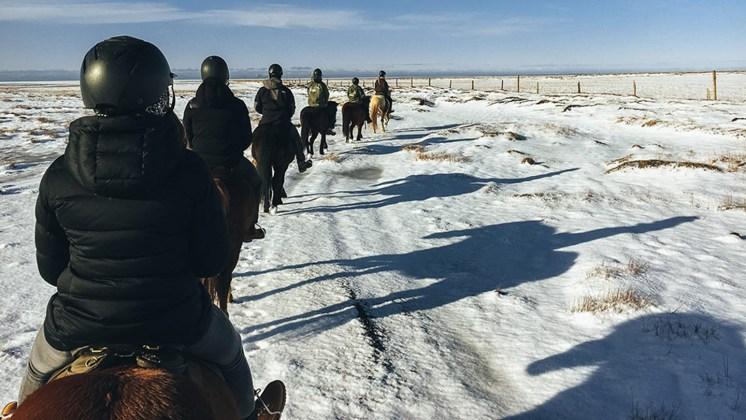 Horse Riding | Horseback | Snow | Black Beach | Trail | Eyjafjöll | Horseback | Farm | Hidden Iceland | Photo Skálakot