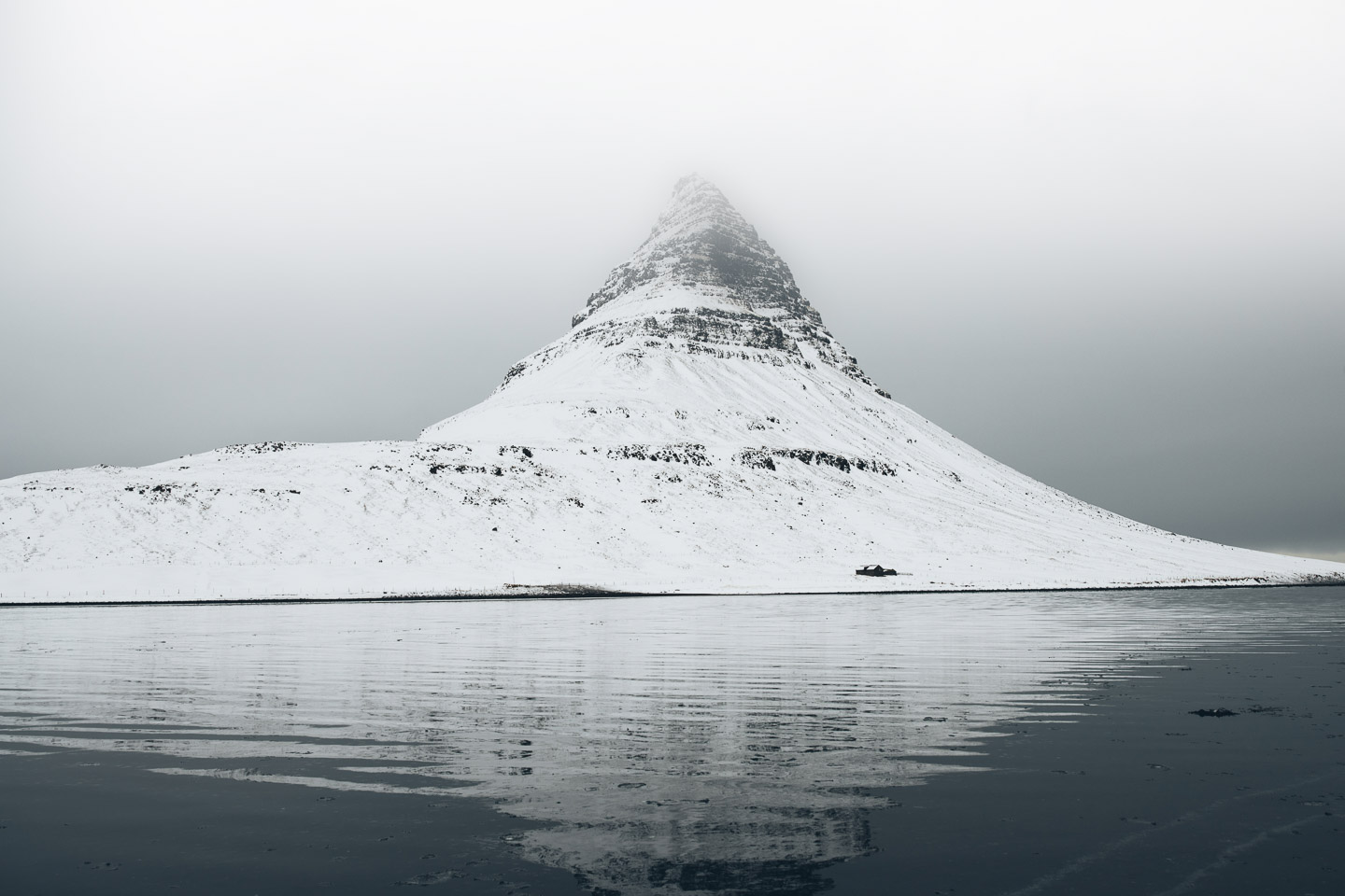 Kirkjufell Reflection in Winter | Snæfellsnes Peninsula Tour | Hidden Iceland | Photo Brendan Bannister | Featured