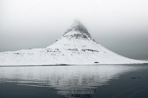 Kirkjufell Reflection in Winter   Snæfellsnes Peninsula Tour   Hidden Iceland   Photo Brendan Bannister   Featured