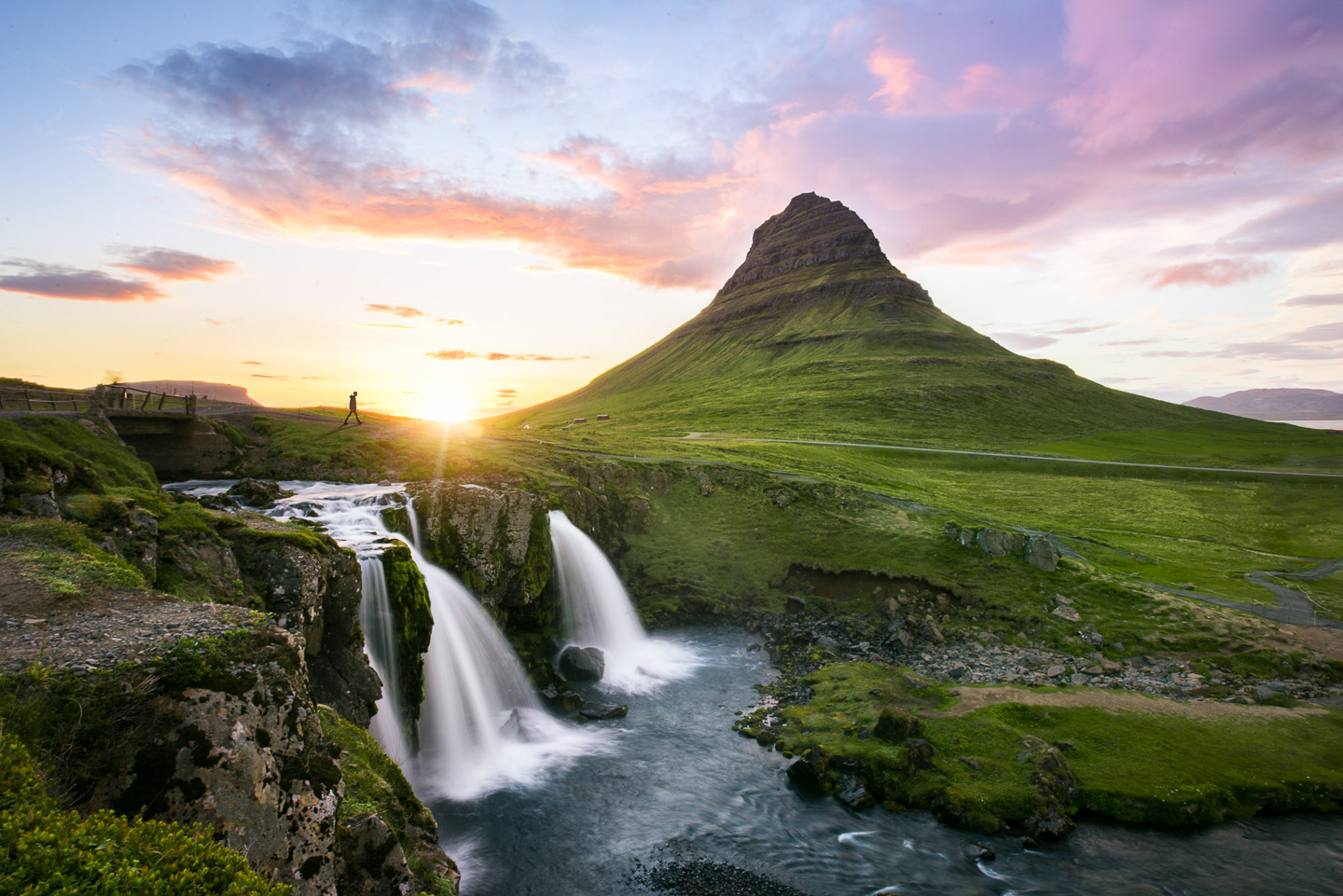 Kirkjufell Midnight Sunset. Hidden Iceland. Photo by Tom Archer. Feature