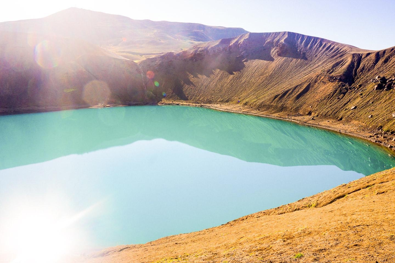 Krafla volcanic crater & geothermal area near Myvatn. Photo by Scott Drummond