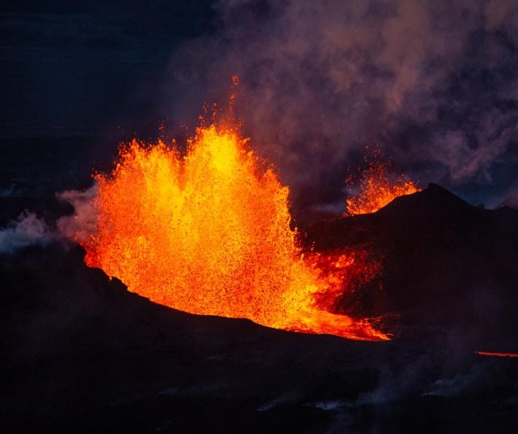 Bárðarbunga eruption 3. By Helen Maria Björnsdóttir. Local Guide of Vatnajokull.