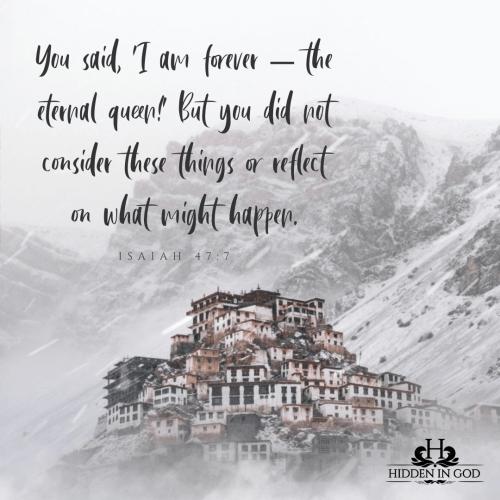 Isaiah 47:7