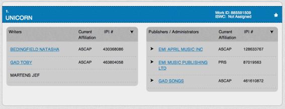 Unicorn - Natasha Bedingfield - ASCAP