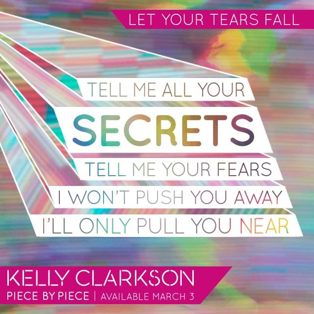 Lyrics Card Let Your Tears Fall