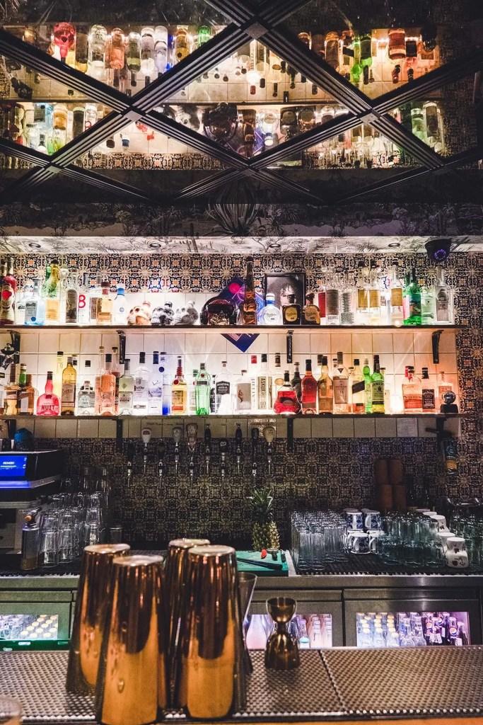 The bar area at Pablo Discobar Iceland Speakeasy