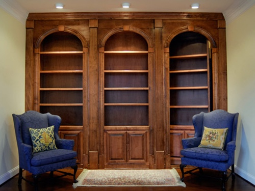 Row of 3 bookcase secret doors