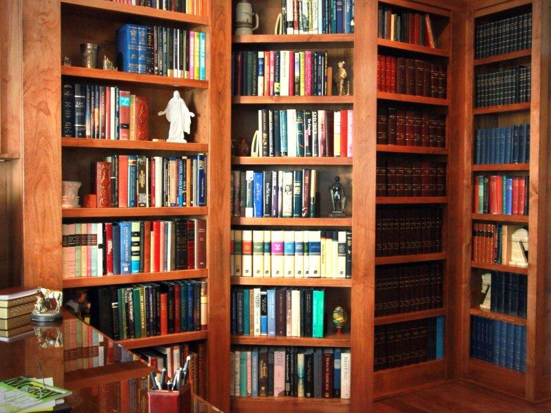 Secret Bookcase Door in office