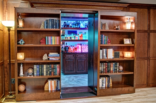 Hidden Bookcase Doors Secure Custom High Tech Secret Bookcases